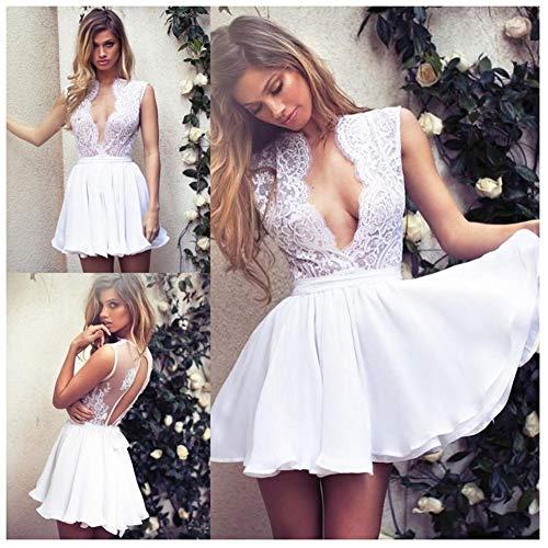 HIN GU - Wedding dress Vestido de novia Vestido de novia corto...