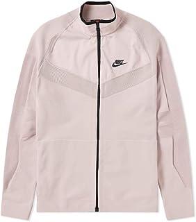 Nike Tech Knit Full Zip Jacket Particle Rose & Black Mens Size XL 886150-684