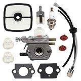 Fornateu Carburador para Echo HC1500 Cortasetos 12520005962 para el Kit de Zama C1U-K51-K52 C1U ECHO-SRM2100-GT2000-GT2100-PAS2000 línea de Combustible