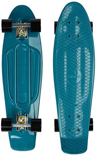 Ridge Skateboards Organics, Skateboard Unisex – Adulto, Teal/Nero, 27 Pollici
