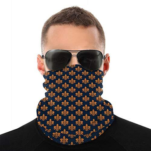 MSGDF Variedad Bufanda de cabeza Windbreak Face Cover 3D,Patrón floral victoriano de color naranja y adornos rizados era gótica,Calentador de cuello bandanas a prueba de viento