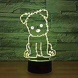 Hund Lampe 3D Nachtlicht Kinder Spielzeug LED 3D Touch Tischlampe ing LED Licht Hauptdekorationen Party Geschenk