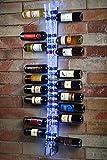 Vitrinas Gomez Portabottiglie da Parete in plexiglass 25 Bottiglie, Cantinetta Porta Bottiglie di Vino da...