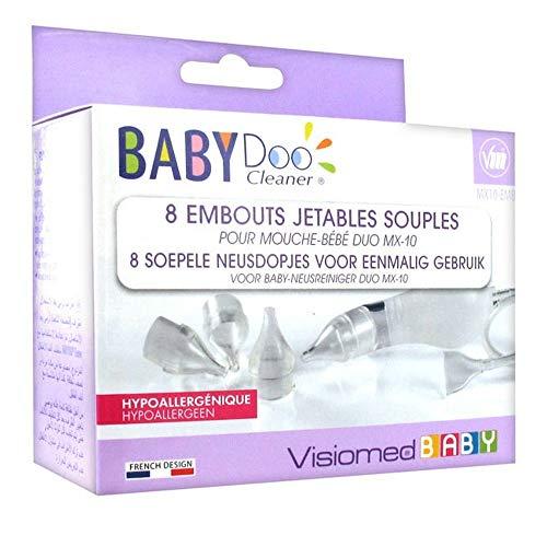 Visiomed Babydoo 8 Embouts Jetables Souples pour Mouche Bébé MX-20