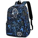 Anime School Backpack for Boys, School Bags Bookbags for Teen Teenagers - Music Kids