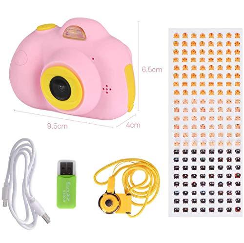 RCTOYS Kinderkamera Pink Mädchen 4 5 6 Jahre | 2019 Spielzeug ab 3 Jahre | 16MP 1080P HD Kinder Kamera mit 32GB SD Karte | Fotoapparat Digitalkamera Rosa Kinder 7 8 Jahre,Rosa