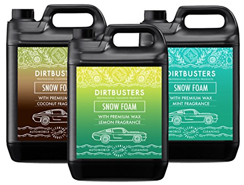 Dirtbusters Car Candy Snow Foam shampoo reiniger met hoogglans wax mint citroen en kokosnoot 5L voor professionele reiniging & valeting