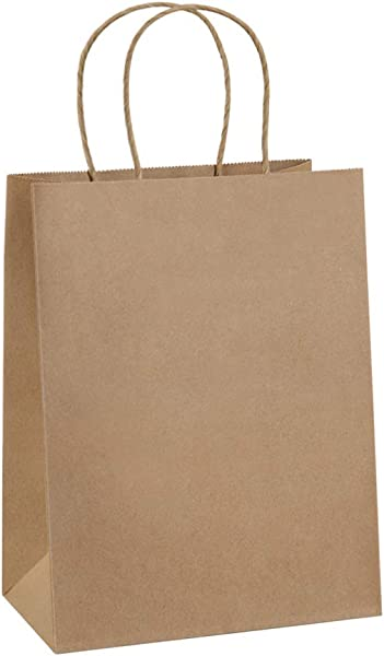 Paper Bags 8x4 25x10 5 100Pcs BagDream Gift Bags Party Bags Shopping Bags Kraft Bags Retail Bags Party Bags Brown Paper Bags With Handles Bulk