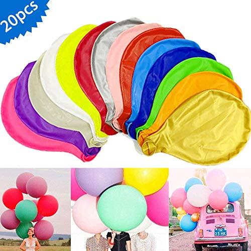 MEISHANG Grosse Luftballons Bunt -20 Stück 39 Zoll Helium Luftballon, Latex Riesige Ballon Dekoration für Taufe Babyparty Hochzeit Geburtstag Kinder Party Festival