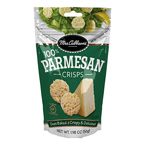 Mrs. Cubbison's Cheese Crisps | Parmesan Flavor | 1.98 Ounce | 100% Real Cheese | Keto Friendly | Great for Snacking and Salad Topper