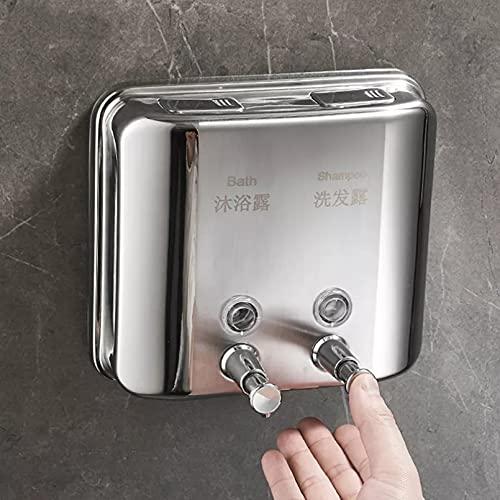 WSLWJH Dispensador De Jabón De 1500 Ml Dispensador De Jabón Montado En La Pared, Dispensador De Gel De Ducha De Champú Doble para Baño, Cocina, Hotel