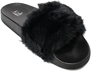Women's Faux Fur Flip Flops