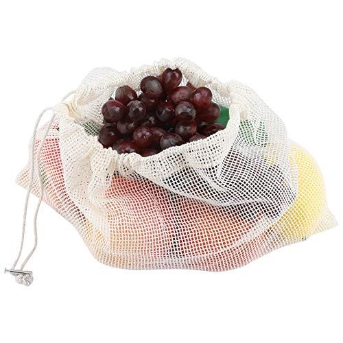 Emoshayoga Bolsas de Red reciclables de Almacenamiento de Compras de Frutas y...