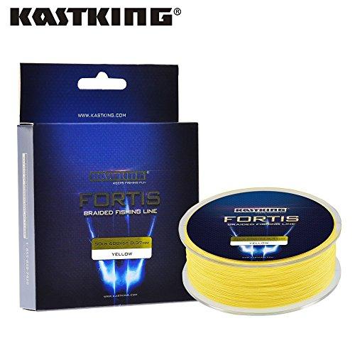 KastKing Fortis Series 320M 4Stränge Multifilament Angelschnur Super Strong PE 4 Farben 4,5 - 36,3 kg geflochtene Angelschnur