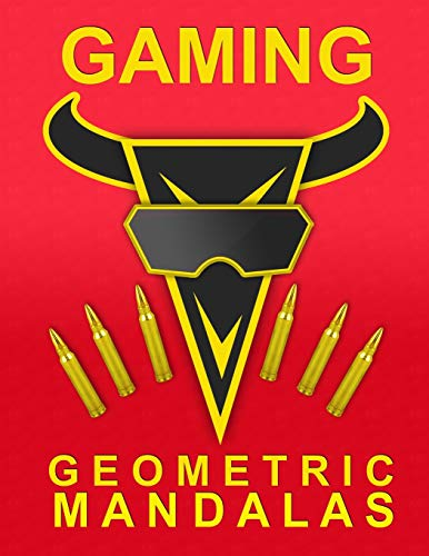 Gaming. Geometric Mandalas: 49 Mandalas coloring book | Non-screen activity | Perfect gift for Boys and Girls who loves Gaming and Video Games | 102 pages | 8,5x11