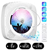 Gueray CD Player Portable Wall Mountable Bluetooth with Dust Cover Built-in HiFi Speakers with LCD Screen Display Home...
