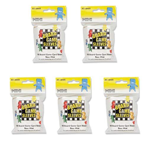5 Packs Arcane Tinmen Board Game Sleeves 100 ct Mini Size Card Sleeves Value Bundle!