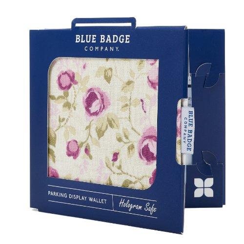 Blauwe Badge Bedrijf Rozen Houder Hologram Veilige Parkeervergunning Display Cover Portemonnee