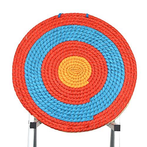 SHARROW Tiro con Arco Redonda Diana de Paja Tradicional Sólido Paja Objetivo de Flecha Diámetro 55cm para la Práctica de Tiro Arcos Dardos