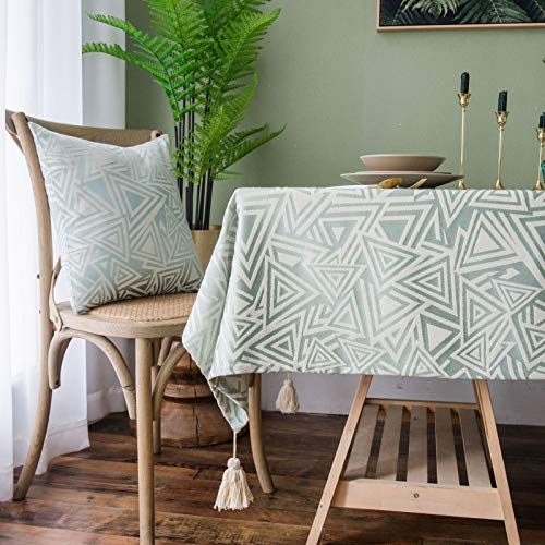 WSJIABIN Home Decoration Tablecloth Waterproof Coffee Table Living Room Chinese Style Imitation Cotton and Linen Thickened Simple Tablecloth Table Mat