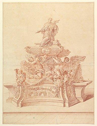 Jeremias Jakob Sedelmayr – The Silver Tomb of St. John Nepomuk in the Cathedral of St. Veits Prague designed by Fischer von Erlach 1729. Kunstdruck (45,72 x 60,96 cm)