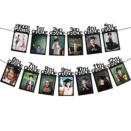 Hatcher lee Class of 2019 Congrats Photo Banner-Perfect Graduation Decorations Party Supplies for Grad Party Bunting Black