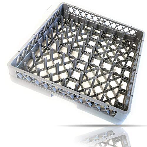 Gastronette Universal Spülkorb Korb 64 Finger Teller Tabletts Gläser Tassen für die Gastronomie Spülmaschine Spülmaschinenkorb...