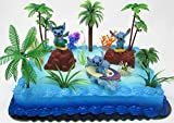 Lilo and Stitch Deluxe Birthday Cake Topper Set Featuring Figures and Decorative Themed Accessories