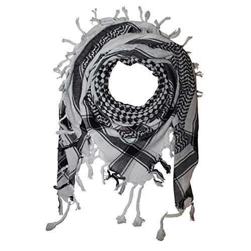 Superfreak Palituch - Karomuster klein weiß - schwarz - 100x100 cm - Pali Palästinenser Arafat Tuch - 100% Baumwolle