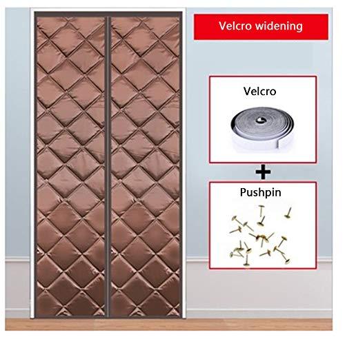 SXHYL Protector De Puerta Magnético, Aislante Ventana Cortinas Aislantes Termicas Aislamiento Acústico Anti-Frio,1,80 * 190