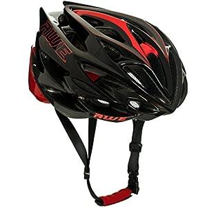 51ltnmrR9jL. SS300 AWE AWESpeed nello Stampo di Ciclismo su Strada Uomini Adulti Casco Nero/Rosso 58-61cm