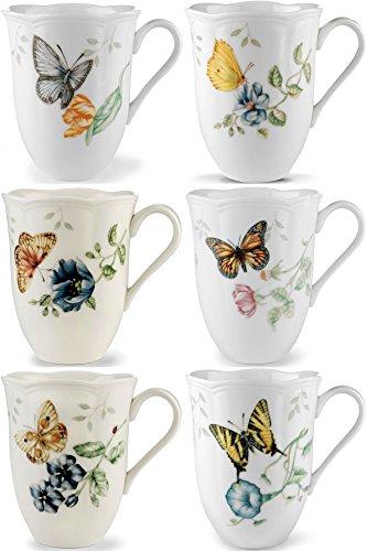 Lenox Butterfly Meadow - Tazas (6 unidades), diseño de mariposas