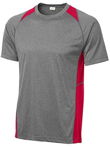 Joe\'s USA Herren Athletic Heather All Sport Trainings-T-Shirts - Rot - 4X-Groß