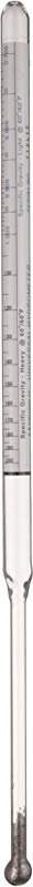 H B DURAC 0 700 2 000 Specific Gravity And 70 10 Degree And 0 70 Degree Baume Dual Scale Hydrometer For Heavy And Light Liquids B61806 0000