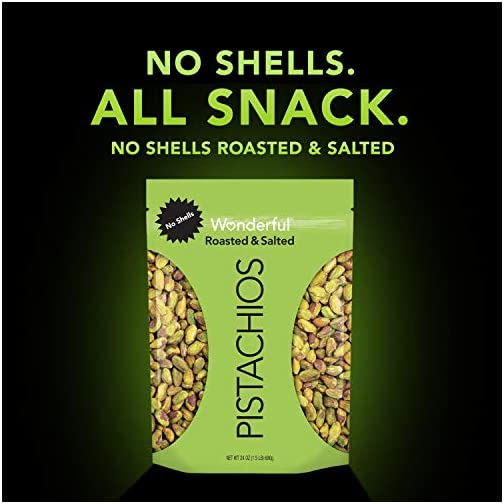 Wonderful Pistachios, No Shells, Roasted & Salted, 24 Ounce Resealable Bag 5