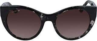 LACOSTE EYEWEAR Women's Sunglasses Oval LA COLOR BLOCK GREY HAVANA