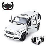 Rastar Off-Road Remote Control Car, 1:14 Mercedes-AMG G63 R/C Off-Roader Toy Car, Doors Open/Working Lights - White/2.4Ghz