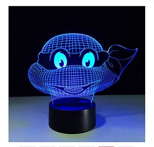 Changer Les Lampes De Tortue De Nuit 3D Tactile Veilleuse Enfants Teenage Mutant Ninja Turtles Cadeau De Nouvel An Pour Les Enfants