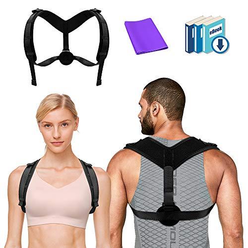 Posture Corrector for Women Men - Effective Adjustable Back Brace, Comfortable Upper Back Clavicle Support Brace Perfect for Spinal, Neck, Shoulder Pain Relief
