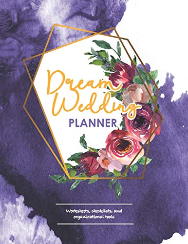 Dream Wedding Planner: Geometric Gold, Navy & Rose Bridal Checklist Book for Wedding Planning & Organization