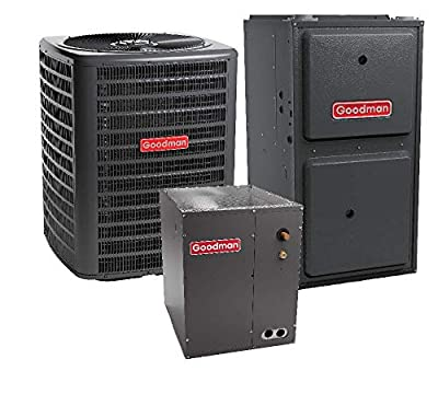 Goodman 4 Ton 14 SEER Air Conditioner GSX140481, Coil CAPF4860D6, 120,000 BTU 96% AFUE Downflow Gas Furnace GCSS961205DN
