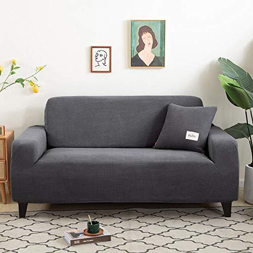 Allenger Funda Sofa Elastica Protector Adaptable,Protector De Sillón En Forma De L De Tejido Grueso para Fundas De Sala De Estar-15_190-230Cm