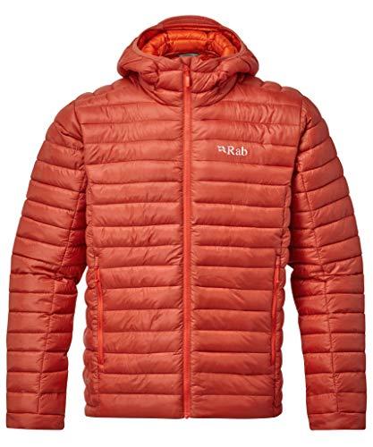 Rab Nimbus - Chaqueta con capucha para hombre, Hombre, color Arcilla Roja, tamaño L