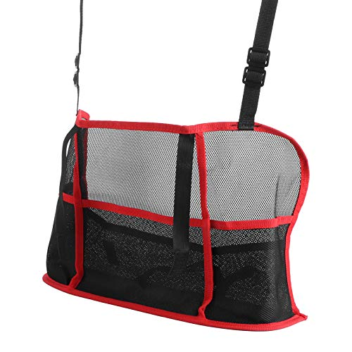 DAUERHAFT Bolsa organizadora de Coche con Bolsillo de Red para Coche de Espacio Ajustable fácil de Usar para el Coche para el(Red, Luxury Model (Improved Model))
