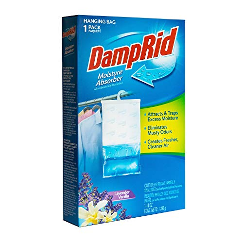DampRid Lavender Vanilla Hanging Moisture Absorber, For Fresher, Cleaner Air in Closets, 6 Pack