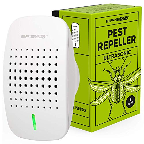 BRISON Indoor Electronic Pest Repeller – Bionic & Ultrasonic Insect & Rodent Repellent Plug-in – Pest Control & Get Rid of Roaches Bats Rats Mice Bugs Spiders Ants – Eco-Friendly & Safe