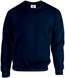 D&H CLOTHING UK Premium Sweatshirts Plain Workwear Casual Crewneck Jumper Sweater Sports Leisure Fleece