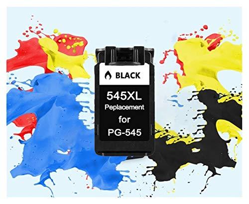 ZIJ De remanufacturado aplicable 545XL 546XL Cartucho de Tinta for Impresora Canon Pixma IP2850 PG545XL CL546XL MX495 MG2450 MG2550 MG2950 NS28 (Color : 1BK 545XL)