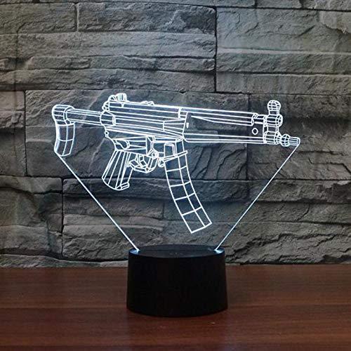 U-Boot-Pistole Modellierung 3D Kreative Tischlampe Acryl Vision Nachtlicht Schatten Nachtlicht