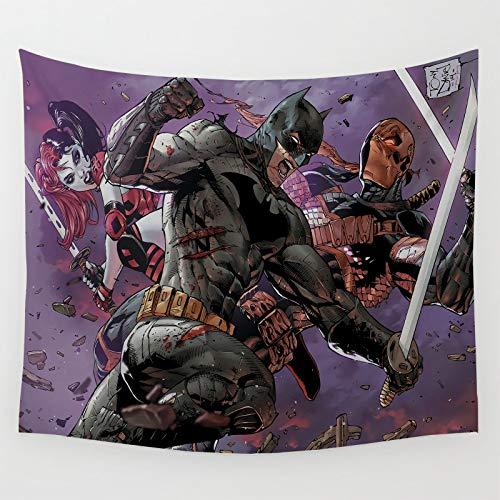 Tapices Regalos Estéticos Batman Harley Quinns Lade Wilson cómics lucha para dormitorio, sala de estar 210x150cm